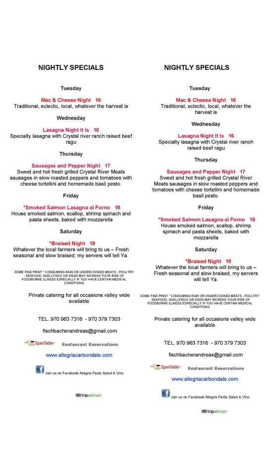 NIGHTLY SPECIALS 4 6.13.2015-2