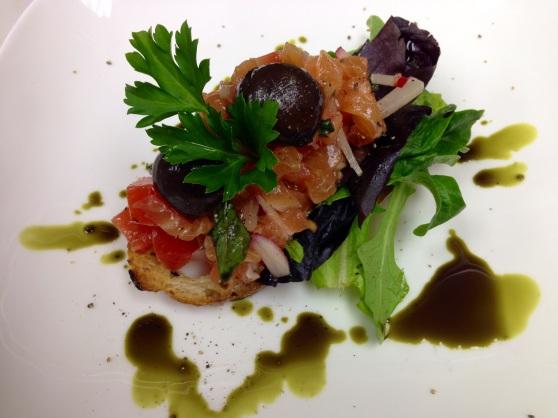 salmon bruchetta